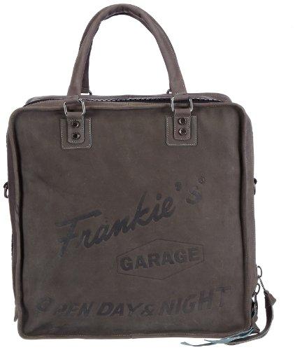 Frankie's Garage Record Bag GS21310187-014, Unisex-Erwachsene Henkeltaschen 40x40x20 cm (B x H x T) Grau (grey 014)