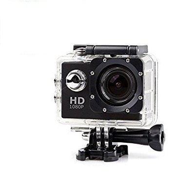 Alonzo 1080p Full HD 12MP CMOS H.264 Sports Action DV Camera Waterproof Recording and Mount Bike Camera