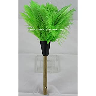 Duster ostrich feather Total Length 32cm–green