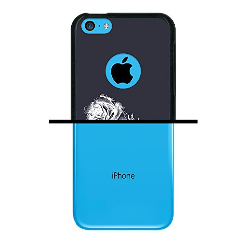 iPhone 5C Hülle, WoowCase Handyhülle Silikon für [ iPhone 5C ] Coloriertes Graffiti Handytasche Handy Cover Case Schutzhülle Flexible TPU - Transparent Housse Gel iPhone 5C Schwarze D0367