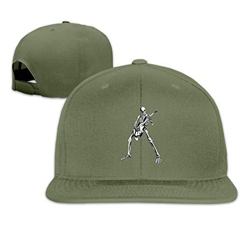 rty Cool Skul Leichte atmungsaktive Outdoor-Laufmütze Athletic Baseball Fitted Caps für Herren ()