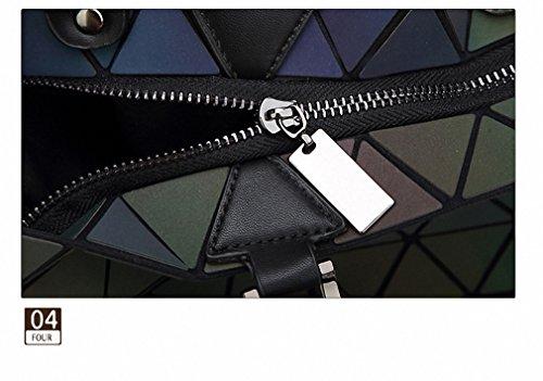 Moda Sacca Laser piega geometrica su Diamante donne luminosa borsette Noctilucent Sacchetto piccolo Noctilucent small