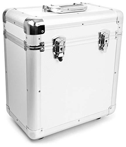 Power Dynamics RC80Valise pour disque vinyle (rack portable pour 80disques LPS de 12, intérieur en mousse viscoélastique, léger Station spatiale internationale)-Noir 80 discos plata