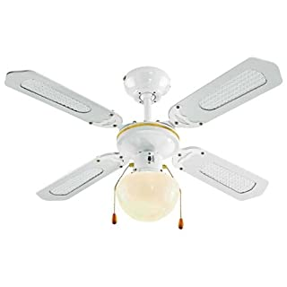Argos Value Range White Ceiling Fan.
