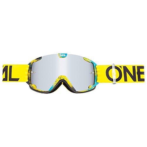O'Neal B-30 Kinder Goggle Ink Kinder Crossbrille Motocross DH Downhill MX Anti-Fog Glas Youth, 6032-10, Farbe Neongelb
