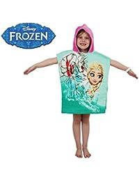 MWS2859 WD16952 Albornoz con capucha de algodón princesa Elsa (Frozen) 120x60 cm
