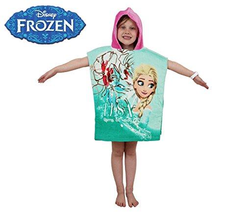 WD16952 Albornoz con capucha de algodón princesa Elsa (Frozen) 120x60 cm