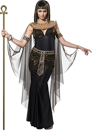 Ägyptische Königin Pharaonin Damenkostüm schwarz-gold L