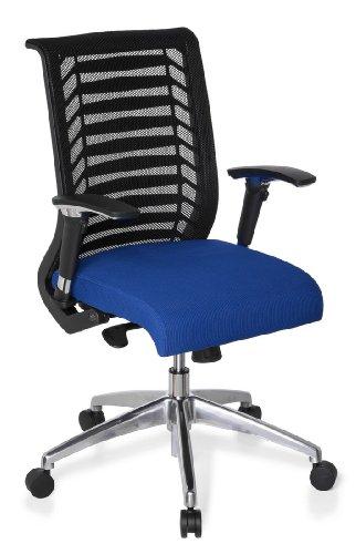 hjh OFFICE 707220 Bürostuhl / Chefsessel Avatar Pro, schwarz / blau