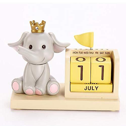 OYBB Estatuas Esculturas Habitación Minimalista Moderna Habitación Decoración Interior Elefante Decoración Animal Creativo Elefante Decoración Calendario