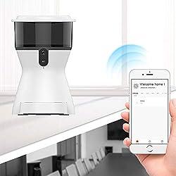 NiFuQin Distributeur Automatique pour Animaux de Compagnie, Surveillance par Caméra Intelligente, Dialogue avec la Vidéo pour Animaux de Compagnie,Pink,WIFIversion