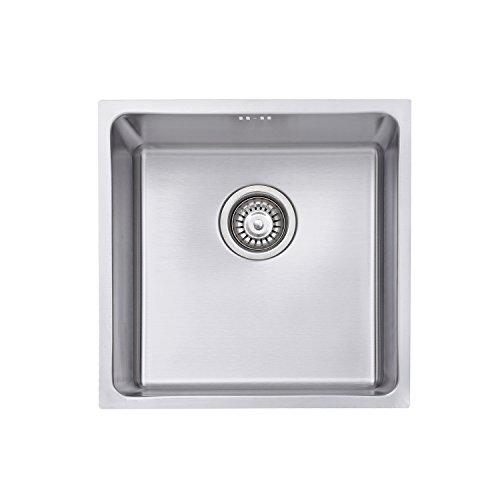 Jass Ferry lavello in acciaio INOX, lavello da cucina filtro inserto 1Deep Single Bowl Square rifiuti 10anni di garanzia