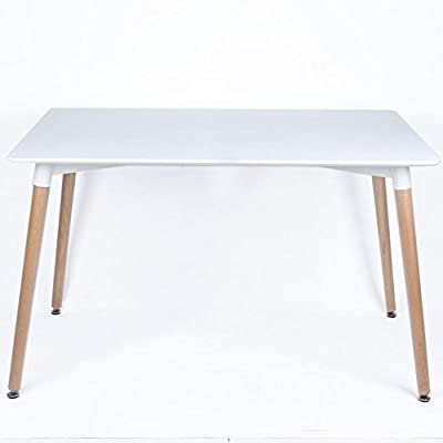 P&N Homewares® Eiffel Inspired Eiffel Retro Design Wood Table for Office Lounge Dining Kitchen - White - low-cost UK light shop.