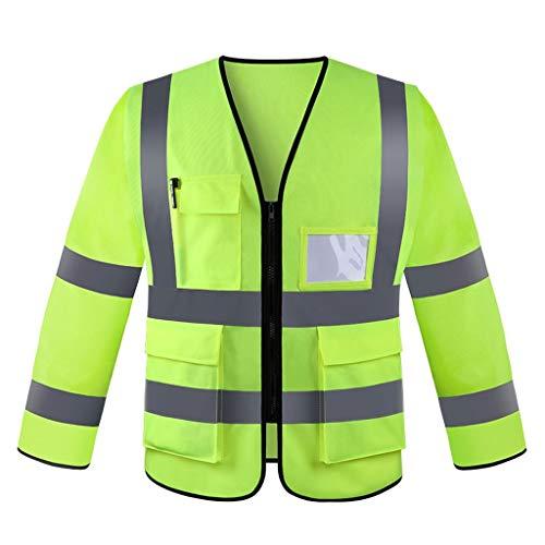 Love lamp Nacht Verkehr Sicherheit Reflektierende Weste BAU Weste Sicherheit Fluoreszierende Weste Hygiene Arbeiter Langarm Arbeitskleidung