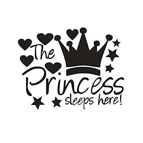 Onlymygod dekorative wandaufkleber Prinzessin schläft Hier mädchen Schlafzimmer Dekoration Geschnitzte wandaufkleber 58x53cm -