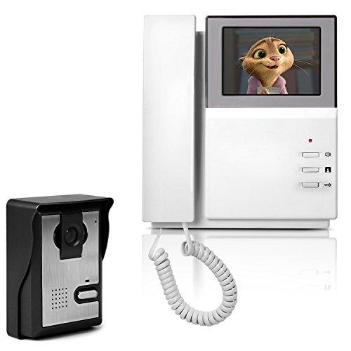 Immagine di Videocitofono a Colori, Yokkao® Campanello Citofono con Telecamera Visione Notturna Antifurto Sicurezza per Casa (Bianco)