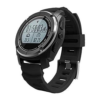 Reloj Inteligente al Aire Libre Bluetooth Reloj Inteligente posicionamiento Profesional por GPS Trekking Correr Ritmo cardíaco Temperatura de presión de Aire QYSZYG