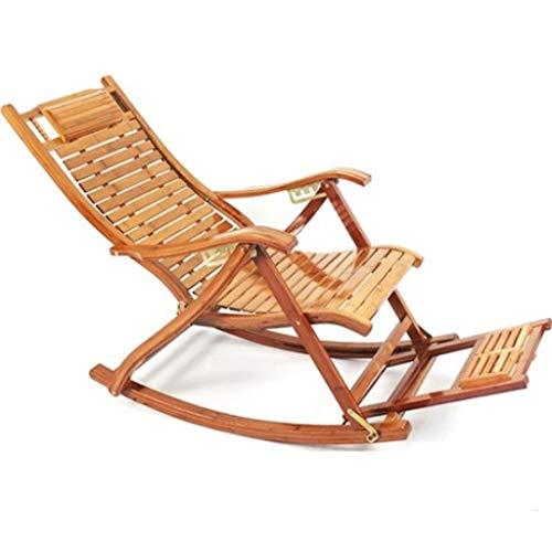 Sedie a sdraio bambù sdraio poltrona imbottita estate fresca sedia pausa pranzo sedia old man sedia a dondolo balcone sedia genitori miglior regalo pesante 150 kg (color : brown, size : 75x33x40cm)