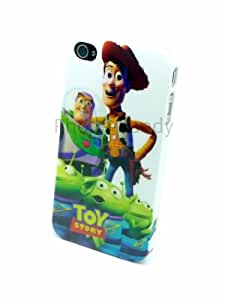 Toy Story iPhone 4 4S Case Cover Shell Buzz Lightyear Woody with Anti Glare Screen Guard