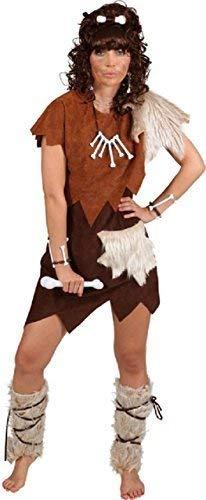ch Höhlenfrau Höhlenmensch Prähistorisch Henne Do Abend Party Welttag des Buches-Tage-Woche Historisch Kostüm Kleid Outfit - Braun, UK 8-10 (EU 36/38) ()