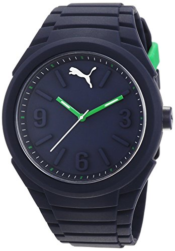 Puma Gummy Unisex Quartz Watch with Blue Dial Analogue Display and Blue Silicone Strap PU103592006