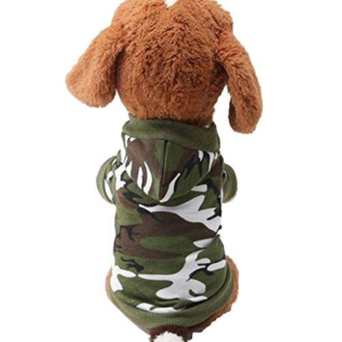 Loveso-Kleider Bekleidung New Hunde-Kleidung Haustier-Sweatshirt Camo Camouflage Coats Hoodies Kostüm (L, A)