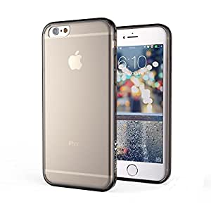 TechZoo iPhone 6S Case, Scratch Resistant, Crystal Clear-Durable, Clear Back Panel & TPU Bumper for iPhone 6/6S, Anti-Fingerprint - Clear/Smoke
