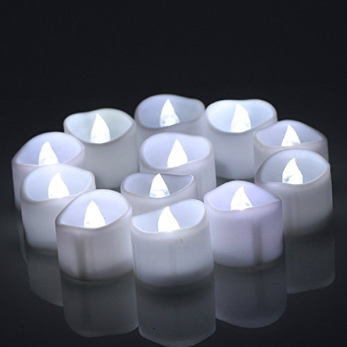 Conmemorativa LED Velas con temporizador, meiso 12unidades LED teelichter con temporizador, 6horas a y 18horas de, Eléctrico flackernde batteriebetriebene velas, luz blanca