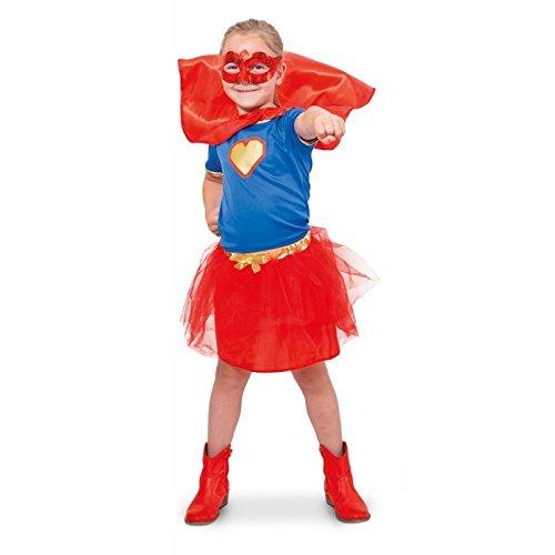 Folat 63222 -Superheld-Mädchen-Hemd-Mädchen, Größe S, (Amazon Superhelden Mädchen Kostüme)