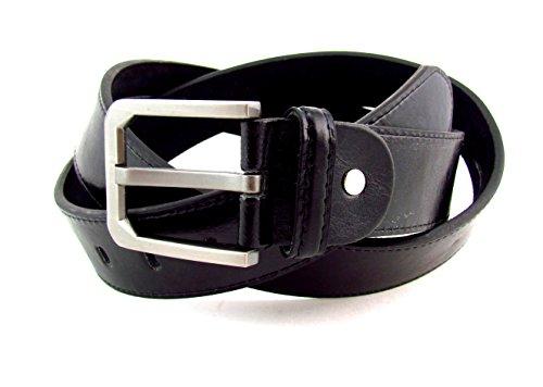 Gürtel Jeans Classic Aufschrift Überlängen Gürtel 160 3,7 cm Breit (schwarz bis 160 cm) (160 cm, schwarz)
