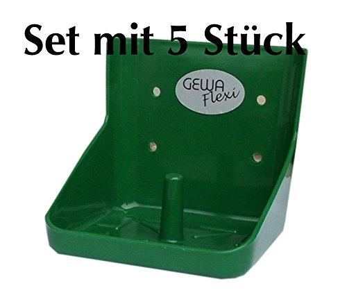 Preisvergleich Produktbild Lecksteinhalter 5 Stück FLEXIbel stabil für 10 kg Lecksteine bruchsicher Lecksteinhalter licking stone holder