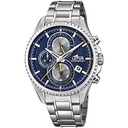 Lotus Watches Homme Chronographe Quartz Montre avec Bracelet en Acier Inoxydable 18526/3