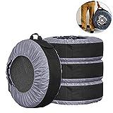 Lanyifang 4pcs Fundas de Protección para Neumáticos de Coche Cubiertas de Rueda de Respuesto Impermeable A Prueba de Polvo Portátil Ajuste para 22-30 Pulgadas de Neumáticos