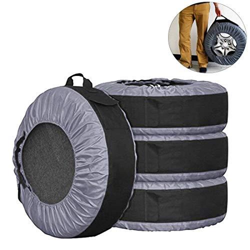Lanyifang 4pcs Reifentaschen Set für Autos Autoreifen Schutzhülle Wasserdicht Staubdicht Anti-Geruch Schnelle Lagerung Tragbar Fit für 22-30 Zoll Reifen