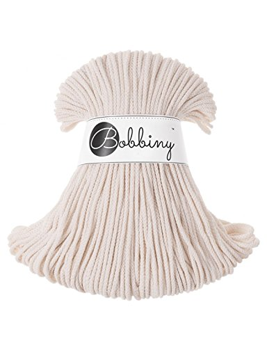Bobbiny Junior 3 mm - Rope-Garn 100 m (natural)