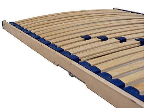 Home Collection24 GmbH Klappbares Lattenrost 90x200 cm, Geeignet für alle Matratzen, Komfort Lattenrost mit 28 hochelastische Federholzleisten
