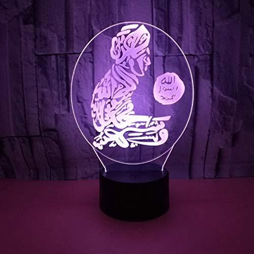 Preisvergleich Produktbild Wunderschönen Nachtlicht,  Elektronische Kreative Charakter Touch-Schalter Home Bedside USB Netzteil Arabische Bunte Lampe Ändern Sicher