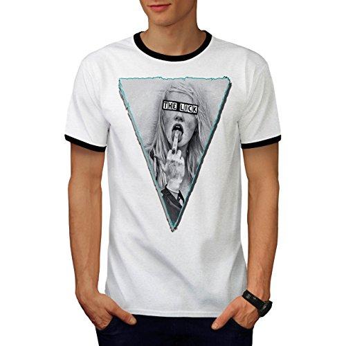 Unhöflich Kostüm Finger (Mädchen Lecken Finger Sexy Musik Abdeckung Herren XL Ringer T-shirt |)