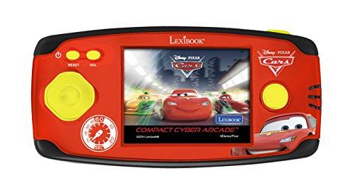 Lexibook - Jl2365DC - Console de jeux portable Disney Cars - Compact Cyber Arcade Center 150 Jeux - 10 jeux Cars et 140 jeux classiques - Flash McQueen - Rouge/Noir