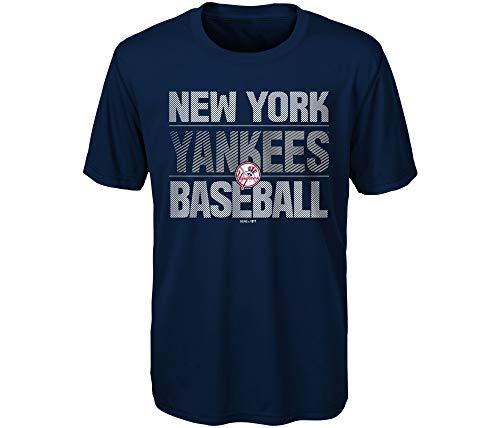 Outerstuff New York Yankees MLB Majestic Jungen Jugendliche-T-Shirt, Gr. 8-20, Blau, Navy, Youth X-Large 18-20 New York Yankees-kinder-fan
