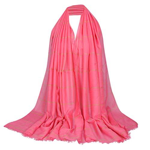 Lazzboy Frauen Ethnischen Abaya Islamischen Muslimischen Nahen Osten Plaid Hijab Wrap Schal Kopfbedeckungen Premium Viskose Maxi Crinkle Cloud Weichen Islam Muslim(J) (Kinderwagen Arch)