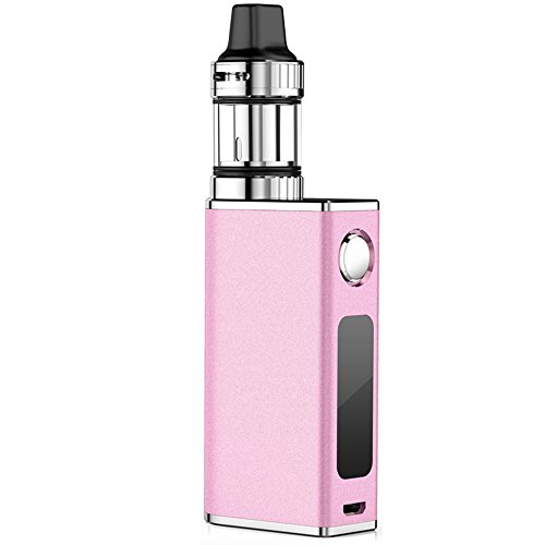 E Zigarette Telckabel 50W Komplett Starterset mit Top Refill Clearamizer 0,3 ohm 4 Luftflussmodus 510er Gewinde e Rauchen, Nikotinfrei (Pink) Lebenslange Garantie