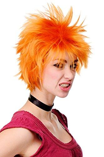 WIG ME UP - Perücke Herren Damen Cosplay Orange Wild Struppelig Gestyled Kurz Japan Anime H9708-1004