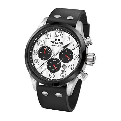 TW Steel Unisex Erwachsene Chronograph Quarz Uhr mit Silikon Armband TW986