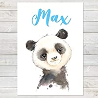 Baby Panda, Cute Personalised Animal Print for Kids, A4 or A3