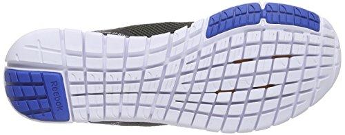 Reebok Zquick Lite, Scarpe da Corsa Uomo Schwarz (Black/Steel/Blue Sport/White/Gravel)