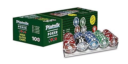Piatnik 790591 - Set PRO Poker con 100 fiches Lucide, 14 g [Importato dalla Germania]