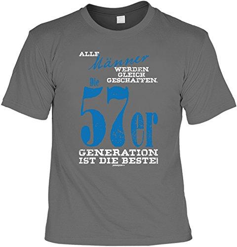 Cooles T-Shirt zum 60. Geburtstag Männer 1957er Beste Generation Geschenk 60. Geburtstag 60 Jahre Geburtstagsgeschenk lustiges Tshirt zum Geburtstag Anthrazit