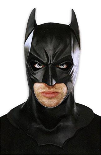Schwarze Vollmaske aus Latex, (Dark Knight Rises Deluxe Catwoman Kostüm)