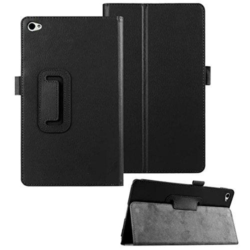 Hülle für Huawei MediaPad M2 801 W/L 8.0 Zoll Schutzhülle Etui Tablet Tasche Smart Cover M2-801w (Schwarz)